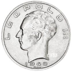 50 Francs Argent Belgique 1939-1940 - Roi Léopold III