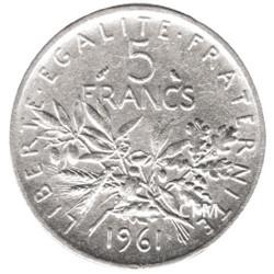 5 Francs Argent Semeuse 1961