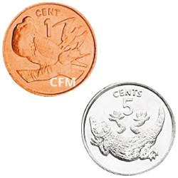 Lot de 1 et 5 Cent Kiribati 1979-1982