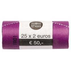 Le rouleau de 25 x 2 Euro France 2018 - Simone Veil