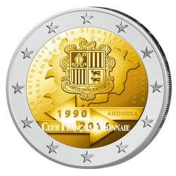 2 Euro Andorre BU 2015 - 25 ans de l'union douanière avec l'U.E.