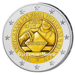 2 Euro Andorre BU 2015 - 30 ans de la majorité civile fixée à 18 ans