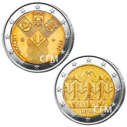 Lot de 2 x 2 Euro Lituanie 2018