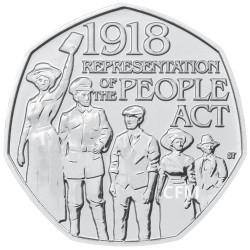 50 Pence Royaume-Uni BU 2018 - 100 ans du droit de vote