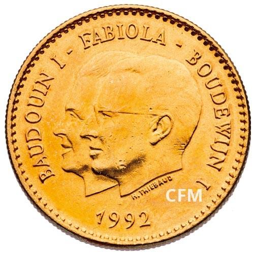 Jeton bronze Belgique 1992 - Baudoin I et Fabiola