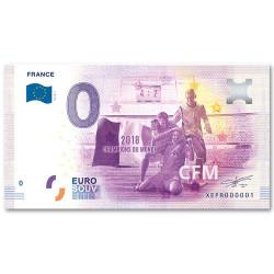 Billet Souvenir 0 Euro France 2018 - Champions du Monde