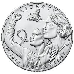 1/2 Dollars USA BU 2018 - Cancer du sein