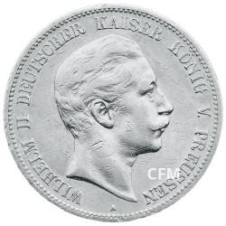 5 Mark Argent Allemagne - Guillaume II
