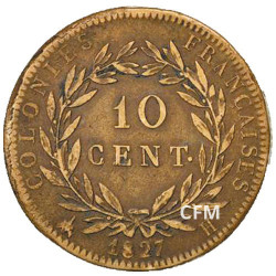 10 Centimes Charles X - Colonies françaises