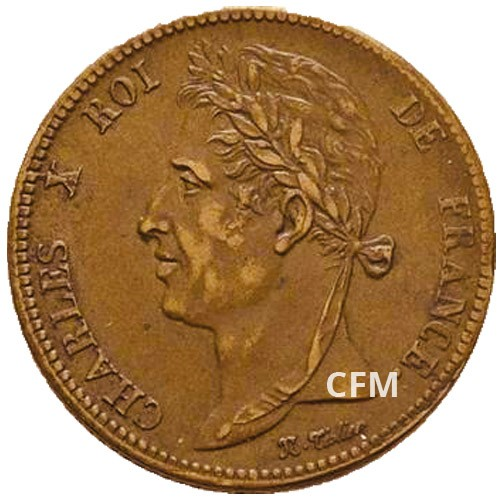 5 Centimes Charles X - Colonies françaises
