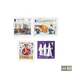 50 timbres Île de Man