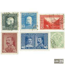 25 timbres Bosnie avant 1940