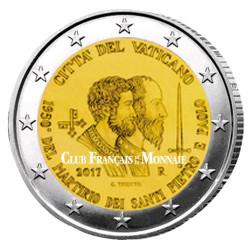 2 Euro Vatican BU 2017 - 1950 ans du martyre  de Saint Pierre et Saint Paul
