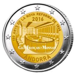 2 Euro Andorre BU 2016  - 150 ans de la nouvelle réforme de 1866