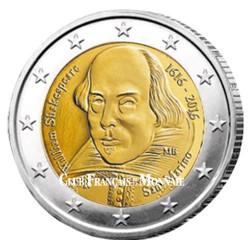 2 Euro Saint Marin BU 2016 - 400ème anniversaire de la mort de W. Shakespeare