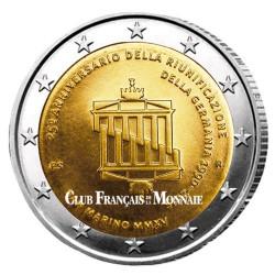 2 Euro Saint-Marin BU 2015 - 25ème anniversaire de la Réunification  de l'Allemagne