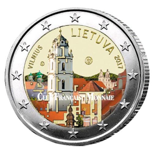 2 Euro Lituanie 2017 colorisée Vilnius - Capitale artistique et culturelle