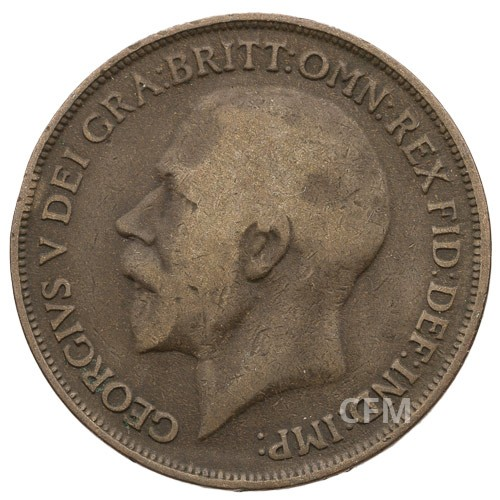 Lot de ½ Penny + 1 Penny Bronze  George V