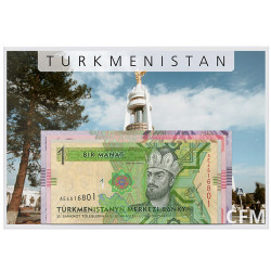 Lot de 4 billets Turkménistan 2012-2014