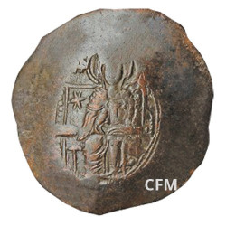 Aspron Trachy (Scyphate) - Empire Byzantin (1100-1200)