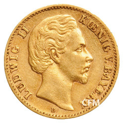10 Mark Or Royaume de Bavière 1972-1881 - Louis II