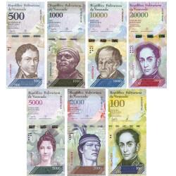7 billets Venezuela 2016-2017