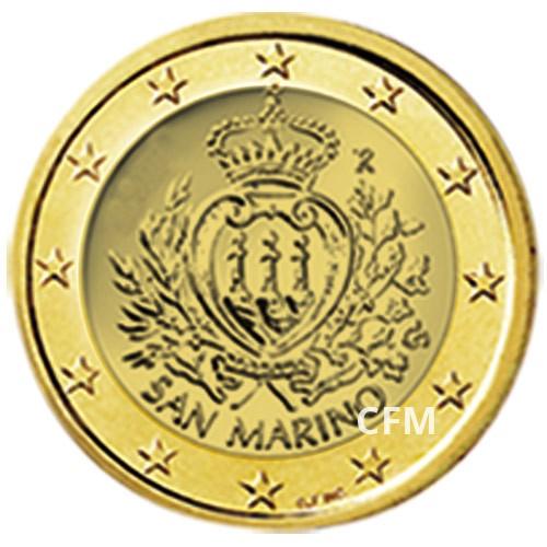 1 Euro Saint-Marin dorée à l'Or fin