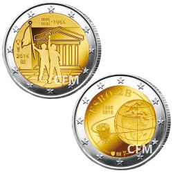 2 x 2 Euro Belgique BU?2018