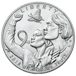 1/2 Dollar USA BU 2018 + 2 Euro Ruban Rose Offerte - Cancer du sein