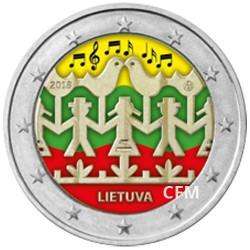 2 Euro Lituanie 2018 colorisée - 60 ans du festival de chant et de danse