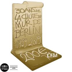 200 Euro Or France BE 2019 - 30 ans de la chute du mur de berlin