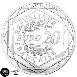 20 Euro Argent France 2019 - Marianne Fraternité