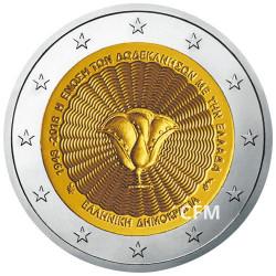 2 Euro Grèce 2018 - Rattachement du Dodécanèse à la Grèce