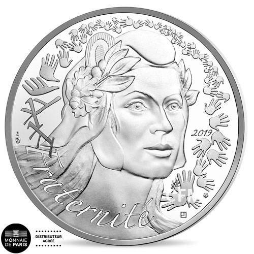 20 Euro Argent France BE 2019 - Marianne Fraternité