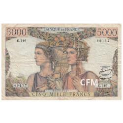 5?000 Francs France Terre et mer