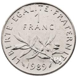 1 F Semeuse Vème République - 1989