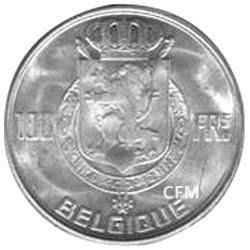 100 Francs Argent Belgique 1948-1954 - Bustes des 4 rois