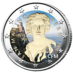 2 Euro Saint-Marin 2018 colorisée - 420 ans de G.L. Bernini