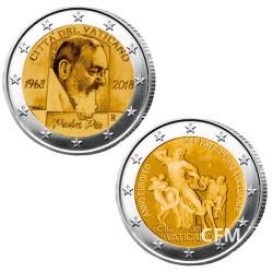 Lot des 2 x 2 Euro Vatican BU 2018