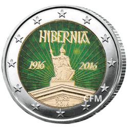 2 Euro Irlande 2016 colorisée - 100 ans de la République d'Irlande