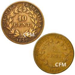 Lot des 2 monnaies Louis-Philippe