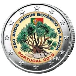 2 Euro Portugal 2018 colorisée - Jardins botaniques d'Ajuda