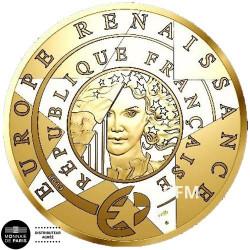 50 Euro Or France BE 2019 - Europa Star 2019 L'époque Renaissance