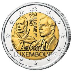 2 Euro Luxembourg 2018 - 175 ans de la disparition de Guillaume Ier
