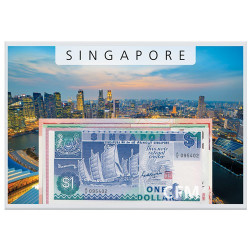 Lot de 4 Billets Singapour - Navires