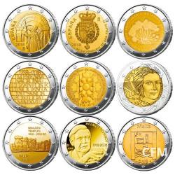 Lot des 27 x 2 Euro commémoratives 2018