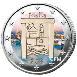 2 Euro Malte 2018 colorisée - Héritage culturel