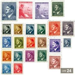 24 timbres Bohême Moravie Protectorat