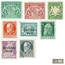 50 timbres Bavière 1870-1920
