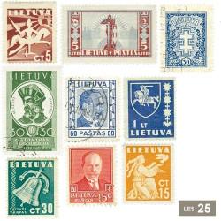 25 timbres Lituanie avant 1940